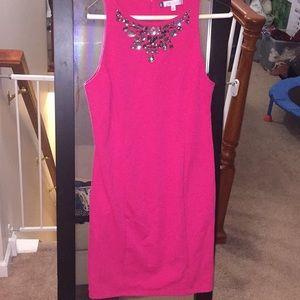 Hot pink J Lo dress